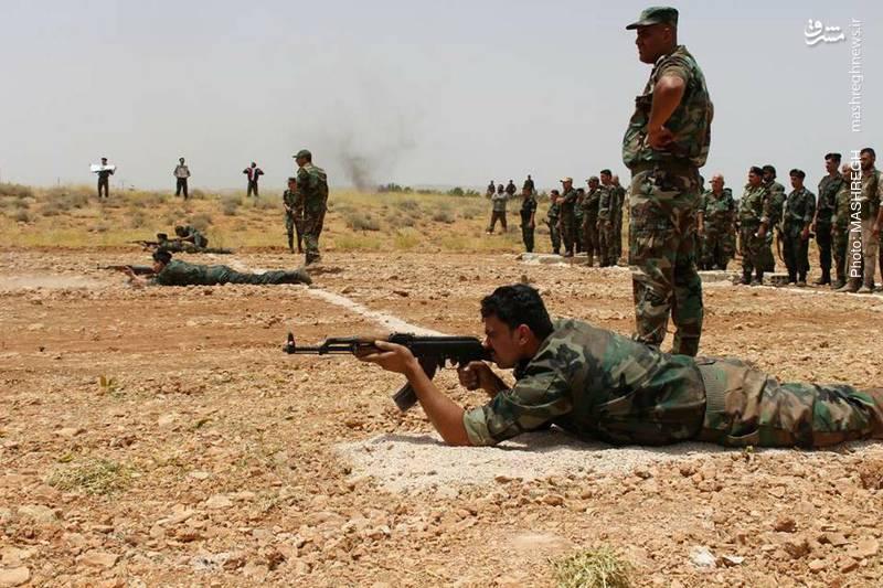 عکس/ تمرین نظامی نیروهای مردمی سوریه