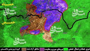چرا تروریستهای داعش تا آخرین لحظه در شرق استان حماه مقاومت میکنند؟ + نقشه میدانی و تصاویر