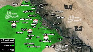 آزادی ایستگاه رادیویی، پایگاههای نظامی و محله «عیاش» در غرب شهر دیرالزور/ امنیت فرودگاه دیرالزور هم تامین شد +نقشه میدانی