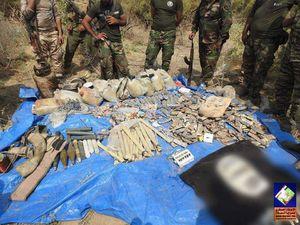 کشف مخفیگاه تسلیحاتی داعش در سامرا+عکس