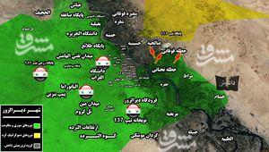 جنگ تن به تن در شرق سوریه/ حملات داعش در غرب و شرق شهر دیرالزور به بن بست خورد+ نقشه میدانی