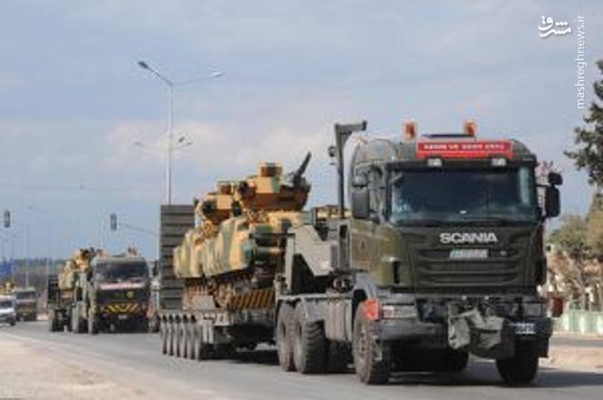 استقرار زره پوشها و سامانههای پدافندی ترکیه در مرز سوریه +تصاویر