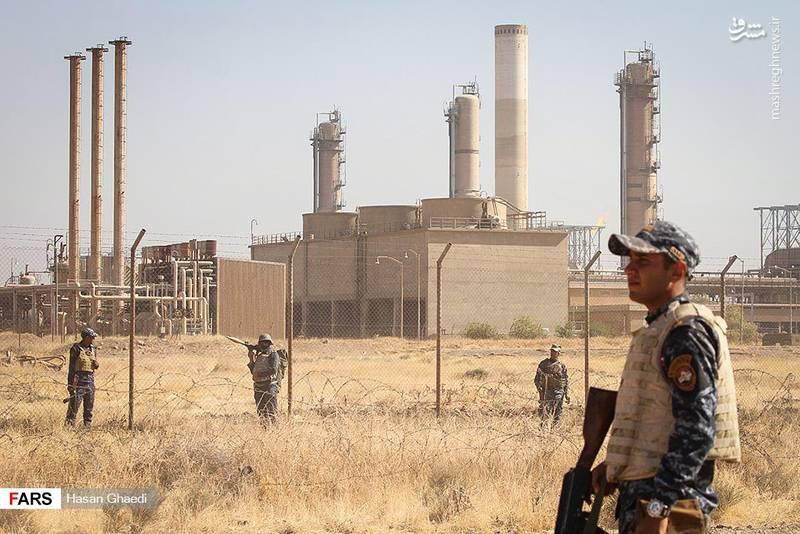 عکس/ حفاظت نیروهای نظامی عراق از تاسیسات نفتی کرکوک
