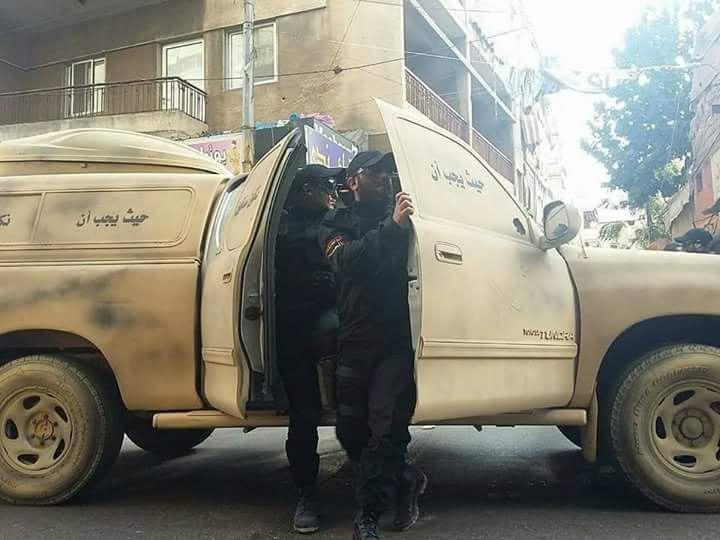 استقرار کماندوهای سیاهپوش حزب الله در خیابانهای بیروت+تصاویر