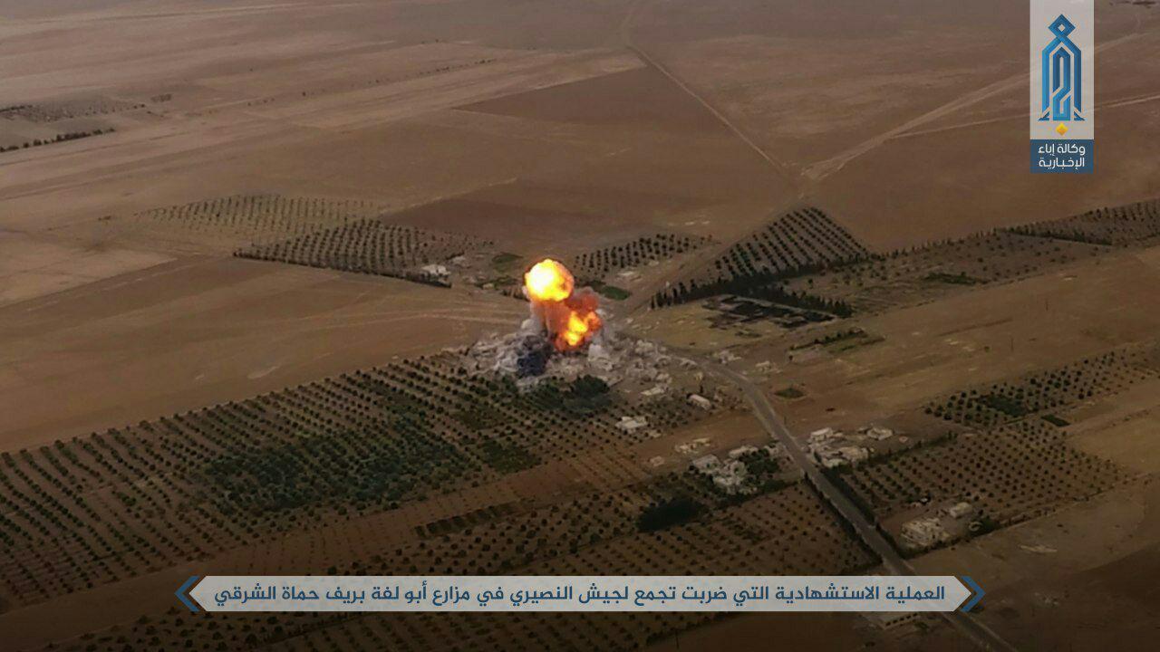 انتحاری تروریست های القاعده علیه ارتش سوریه در شمال حماه+تصاویر