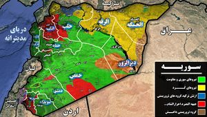 جبهه مقاومت پس از نابودی کامل داعش به سمت کدام استان سوریه حرکت خواهد کرد؟ + نقشه میدانی و تصاویر