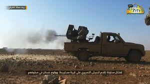 عکس/ حمله تروریستهای چچنی به حماه سوریه