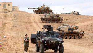 جزئیات حملات ارتش ترکیه علیه مواضع نیروهای کُرد در شمال غرب استان حلب؛ استقرار یگانهای زرهی ارتش ترکیه و آماده باش نیروهای کُرد در شمال سوریه + نقشه میدانی