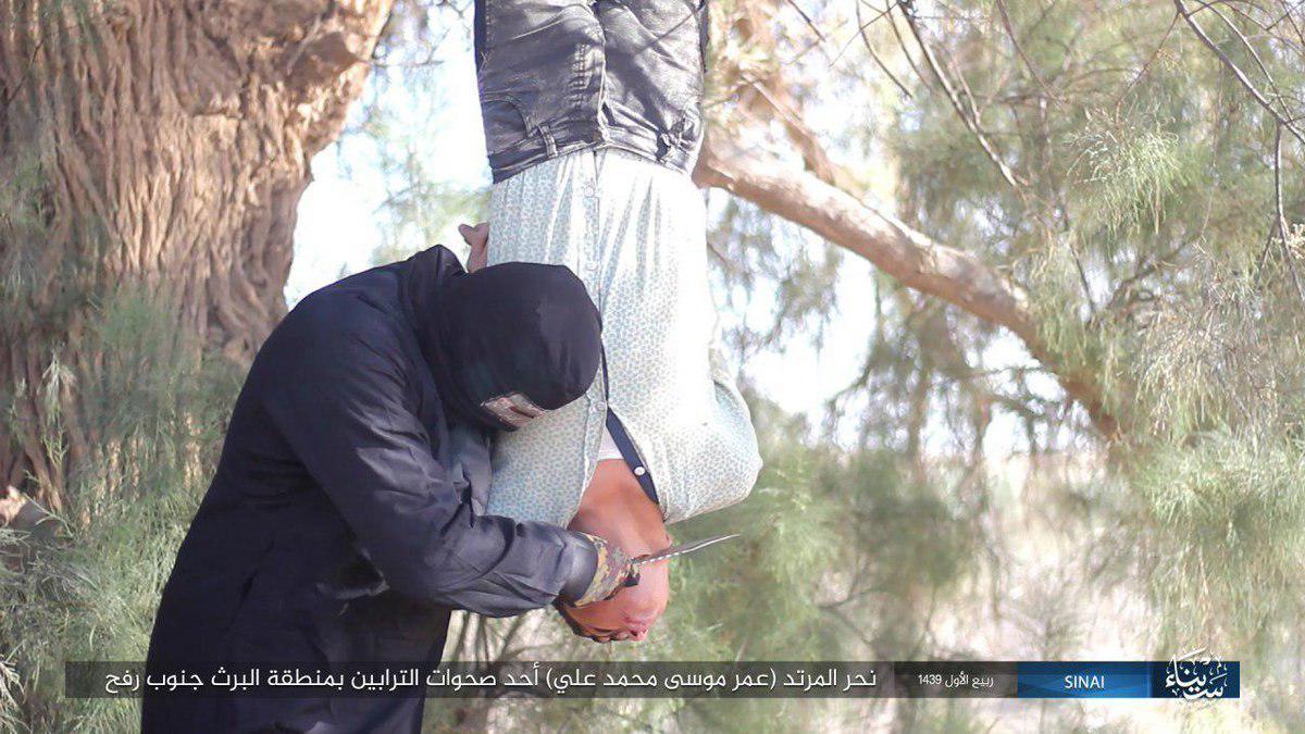 ذبح نوجوان مصری توسط داعش در شبه جزیره سینا+تصاویر
