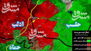 جبهه مقاومت به ۱۳ کیلومتری بزرگترین اتاق عملیات تروریستها در جنوب استان ادلب رسید + نقشه میدانی