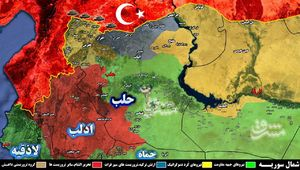 تحولات میدانی سوریه از شمال غرب حلب تا جنوب شرق دیرالزور/ مناطق کردنشین مقصد خمپارههای ارتش ترکیه + نقشه میدانی