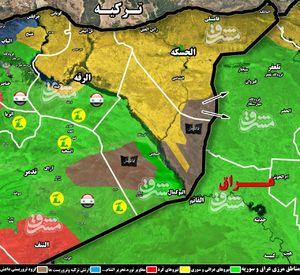 دفع حملات داعش برای اشغال گذرگاه راهبردی « تل صفوک» عراق با انهدام ۱۸ انتحاری و ۱۳ خودروی نظامی + نقشه میدانی