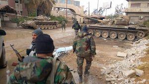 ۴۵۰ متر تا شکست محاصره نیروهای ارتش سوریه در غوطه شرقی دمشق + نقشه میدانی و تصاویر