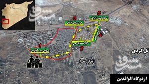 رسانههایی که چشمهایشان اطلاعیههای ارتش سوریه را نمیبینند/ راه امن برای خروج مردم غوطه شرقی که حامیان تروریستها سانسور میکنند + نقشه میدانی