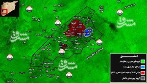 حمله خمپاره ای به اردوگاه الوافدین برای ادامه حصر مردم در ریف دمشق/ مذاکره گروه های تروریستی برای خارج کردن جبهه النصره از غوطه شرقی دمشق + عکس و نقشه میدانی