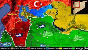 سقوط « جندیرس، شران و شیخ حدید در شمال استان حلب؛ نیروهای ارتش ترکیه و تروریست ها به ۶ کیلومتری عفرین رسیدند + نقشه میدانی و تصاویر