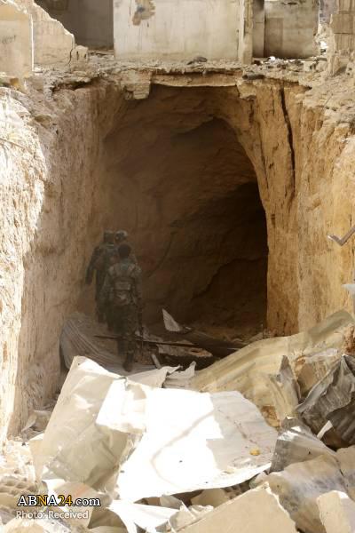 کشف دو تونل متعلق به تروریستها در غوطه شرقی دمشق + عکس