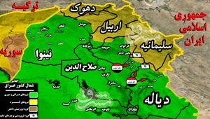 توقف عملیات در شرق استان صلاح الدین عراق به دلیل تحرکات جنگنده های آمریکایی+ نقشه میدانی و تصاویر