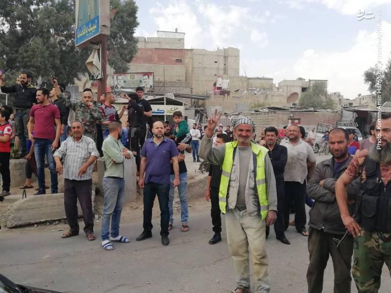 عکس/ جنگ و شادی در جنوب دمشق
