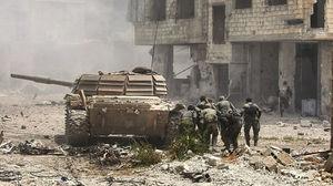خداحافظی تروریست های جیش الاسلام و ارتش آزاد با جنوب دمشق؛ حلقه محاصره داعش در اردوگاه یرموک و حجرالاسود تنگ تر شد + نقشه میدانی و تصاویر