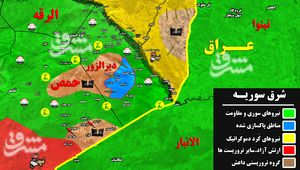جزئیات عملیات مشترک داعش و آمریکا علیه نیروهای ارتش سوریه در جنوب استان حمص+ نقشه میدانی
