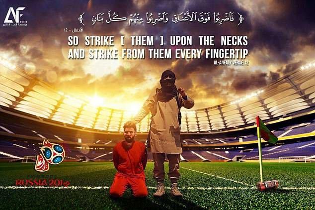 داعش جام جهانی روسیه، مسی و رونالدو را تهدید کرد + عکس