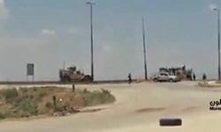 ارتش سوریه در «قامشلی» کاروان نظامی آمریکا را مجبور به عقبنشینی کرد+فیلم