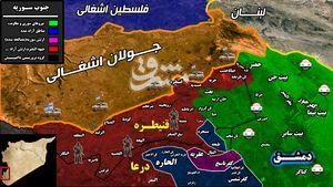 پایان عمر تروریستهای مورد حمایت صهیونیستها در نزدیکی جولان اشغالی/ آغاز عملیات نیروهای ارتش سوریه برای پاکسازی مناطق اشغالی استان قنیطره + نقشه میدانی