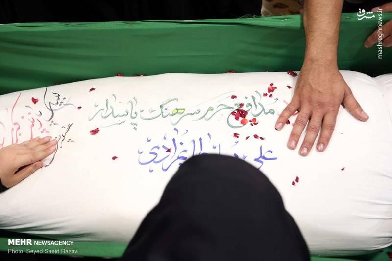 """عکس/ مراسم وداع با پیکر شهید """"علی سلطانمرادی"""""""