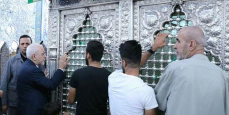 حضور ظریف در مرقد مطهر حضرت زینب (س) +عکس