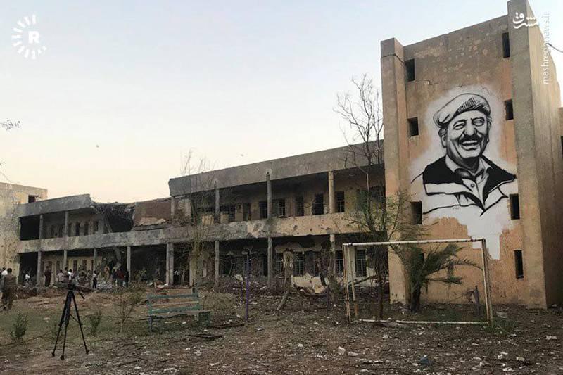 تصاویر جدید از محل اصابت موشک به ساختمان تروریستها در کردستان