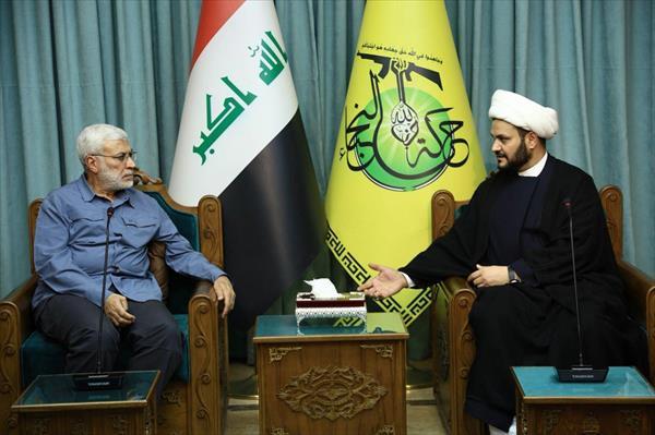 ابومهدی المهندس: نقش نُجَباء در تأمین امنیت بغداد ستودنی است + تصاویر
