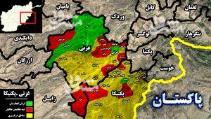 ادامه سقوط دومینوار شهرها در افغانستان همزمان با فرار نیروهای ارتش از پایگاههای نظامی + نقشه میدانی