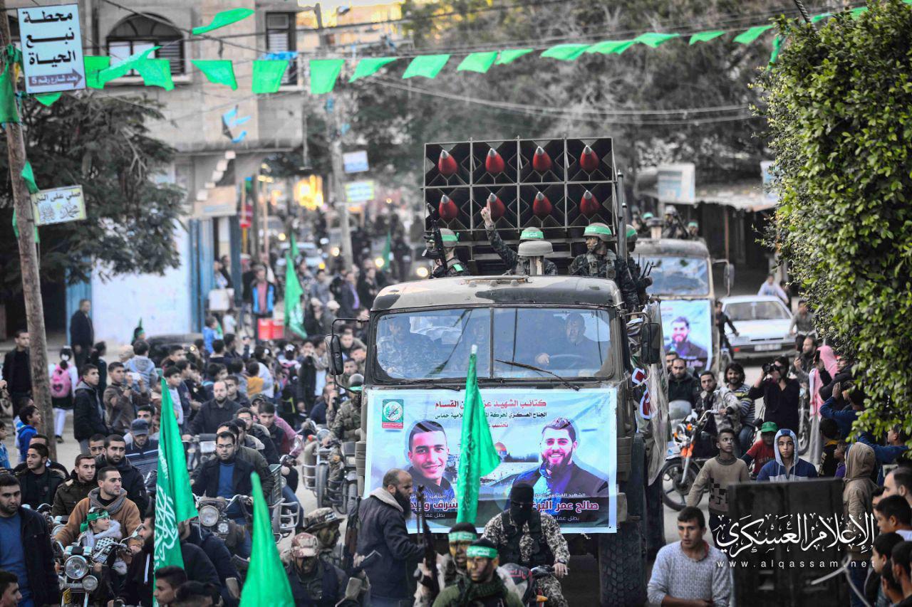 رژه نظامی گسترده گردانهای شهید عزالدین قسام