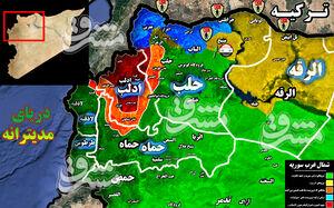 دفع حملات سنگین تروریستها در شمال غرب حماه و شمال شرق لاذقیه/ موج سنگین ترورهای دومینوار فرماندهان گروههای تروریستی در شمال سوریه + نقشه میدانی و تصاویر