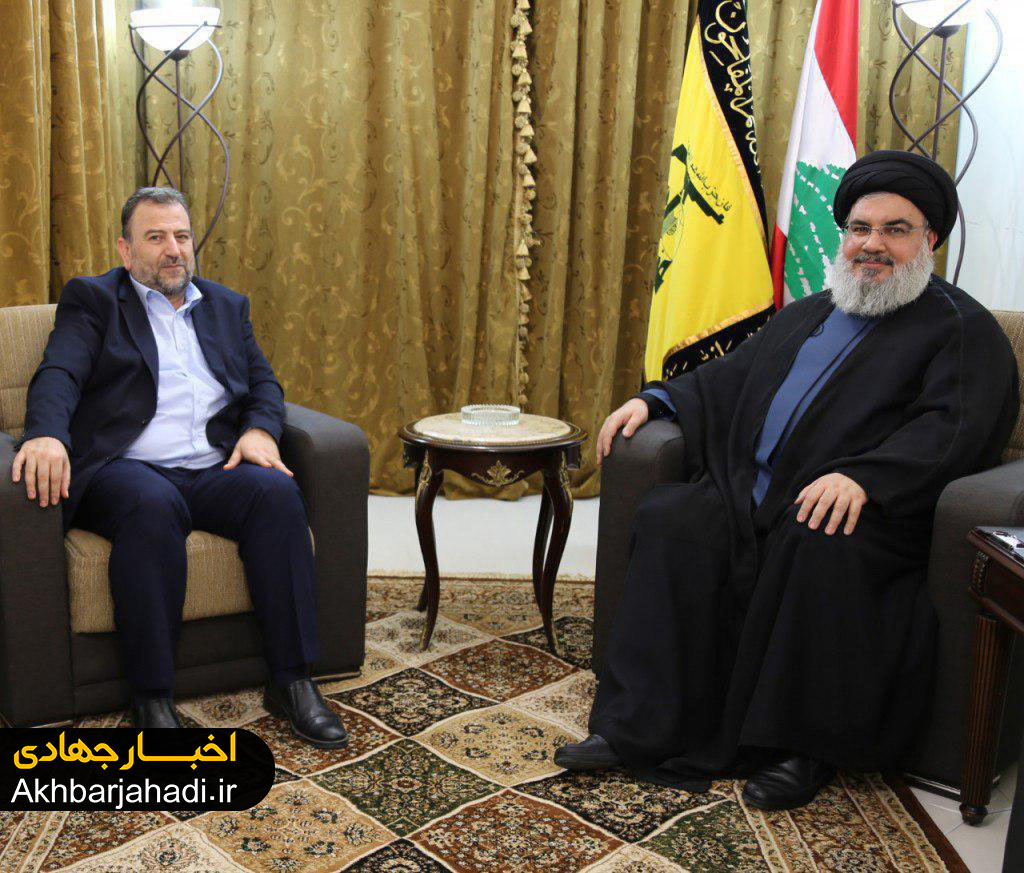 دیدار سید حسن نصرالله و یک هیات حماس