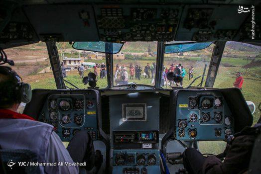 عکس/ امدادرسانی هوایی به سیلزدگان پلدختر