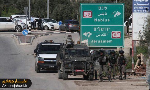 عکس/ محل شهادت یک فلسطینی در جنوب نابلس