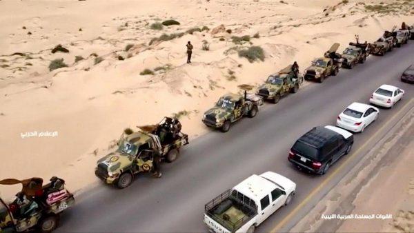 بمباران مواضع نیروهای حفتر در جنوب طرابلس