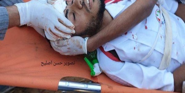 یک شهید و ۳۰ زخمی در حمله صهیونیستها به راهپیمایی غزه