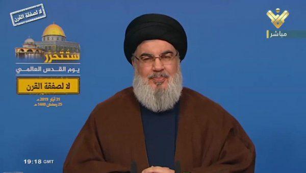 فیلم/ سیدحسن نصرالله: اگر آمریکا به ایران حمله کند تمام نیروها و منافعش ریشه کن خواهد شد