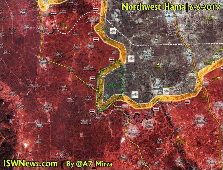 پیشروی تروریستها در شمال غرب حماه + نقشه میدانی