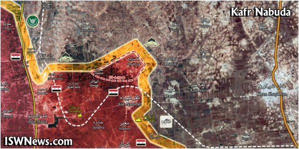 نقشه میدانی/ آزادسازی القصابیه در جنوب ادلب توسط ارتش سوریه