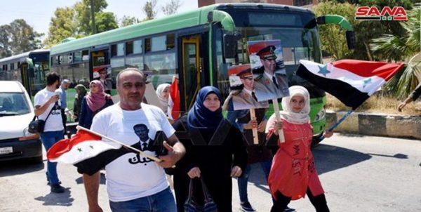 پایان هفت سال آوارگی؛ هزار شهروند سوری به «القصیر» بازگشتند