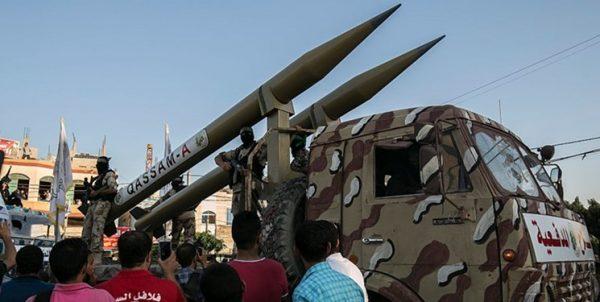 موشکهای شلیک شده به فلسطین اشغالی از ۲۰۱۴ تا ۲۰۱۸