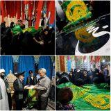 عکس/ پرچم متبرک امام رضا(ع) در مزار شهید حججی