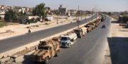 کاروان کمکرسانی ترکیه برای النصره، هدف حملات هشدارآمیز هوایی قرار گرفت
