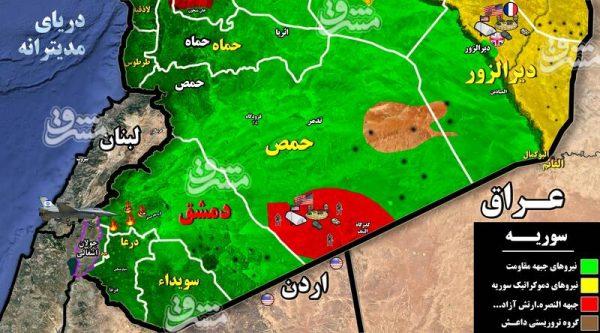 جزئیات حملات موشکی رژیم صهیونیستی به پایتخت سوریه/ اسامی شهدای حزب الله در حومه دمشق +نقشه میدانی و عکس