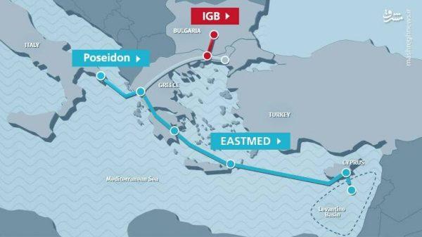 ساخت لوله گاز شرق مدیترانه: صهیونیستها از پشت به ترکیه خنجر زدند + نقشه