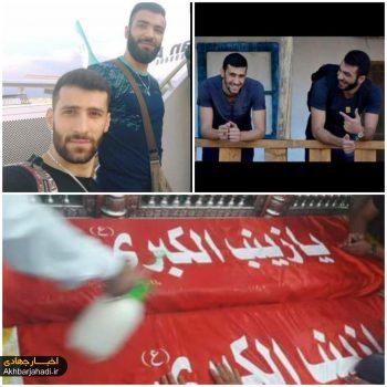 تشییع پیکر مطهر شهید یاسر احمد ضاهر و شهید حسن یوسف در بیروت + فیلم و عکس